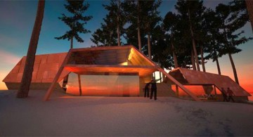 futuristic house plans at Sunset