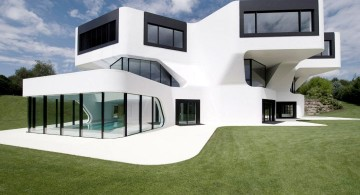 futuristic house plans in white