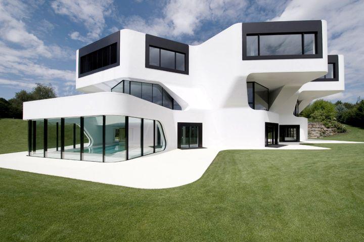 futuristic house plans in white