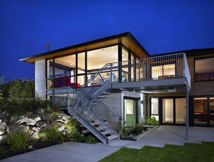futuristic house plans   outdoor stairs