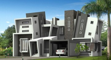 futuristic house plans with unique facade