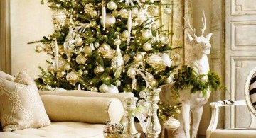 glamour white christmas room