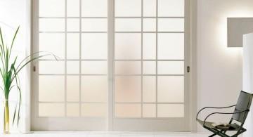 half opaque modern glass door