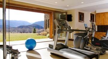 home gyms ideas with door open