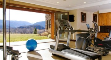 home gyms ideas with door open