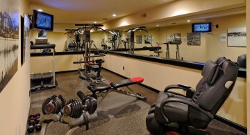 home gyms ideas with massage chair