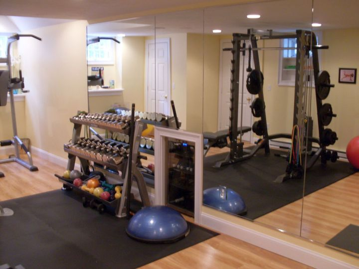 Home Gyms Ideas With Mirror Wall