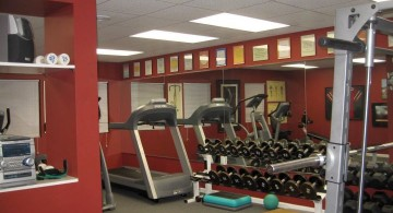 home gyms ideas with wall mirror