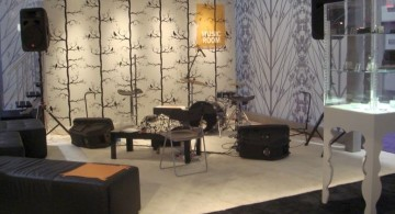 home music room in black