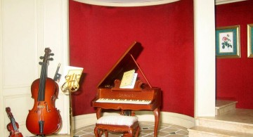 home music room piano and strings