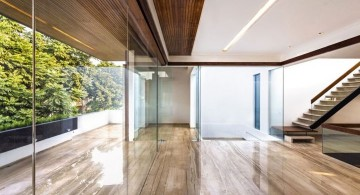 indian modern house glass door