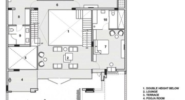 indian modern house second floor plan