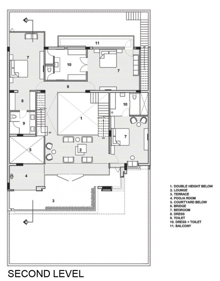 Indian Modern House Second Floor Plan