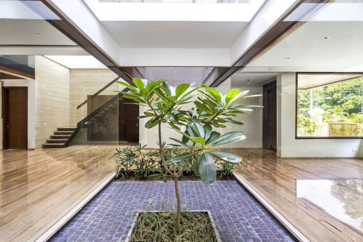 indian modern house wide view interior