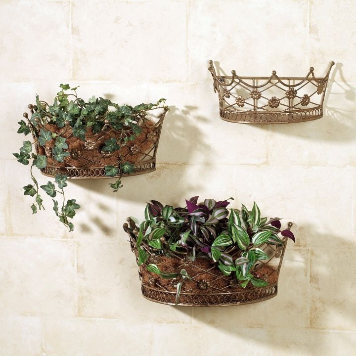 indoor wall hanging planter crown