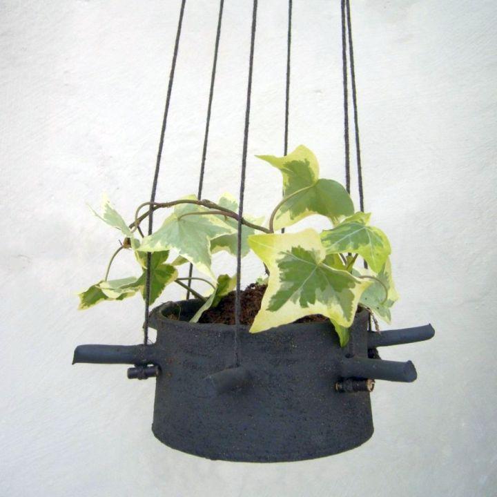 indoor wall hanging planter repurposing old pots