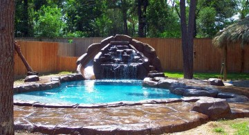 lovely pool waterfall ideas