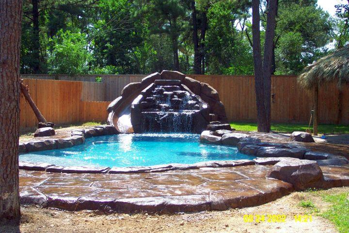 lovely pool waterfall ideas