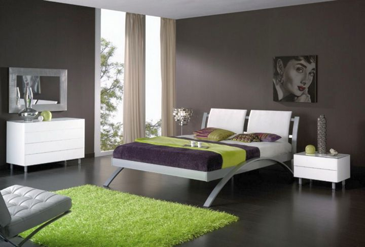 manly bedrooms in black and green