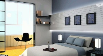 manly bedrooms in blue and grey