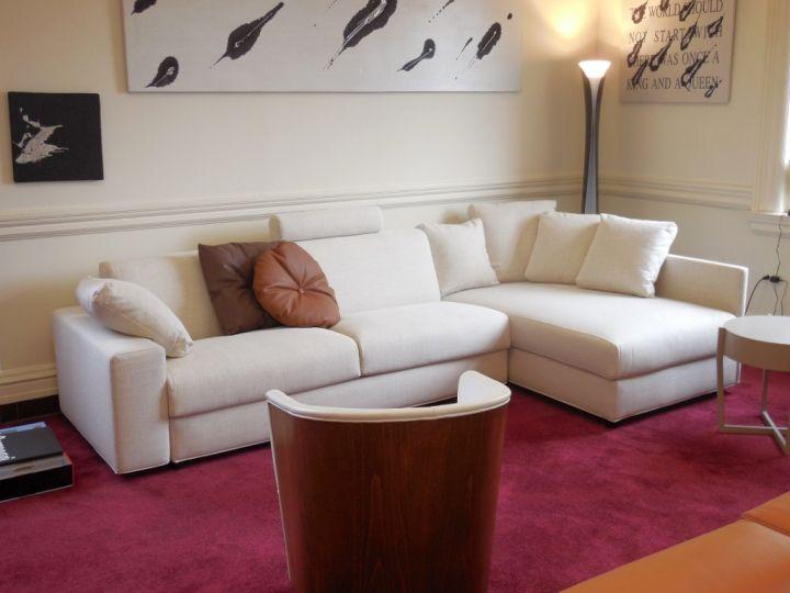 Maroon living room