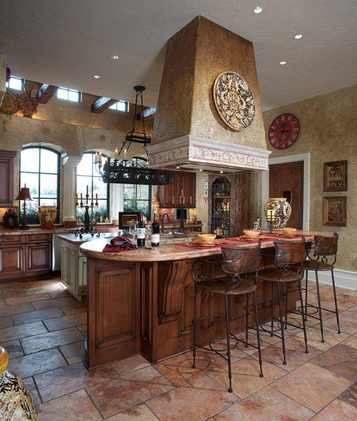 17 inviting mediterranean kitchen designs and decoration for Spanish style kitchen design
