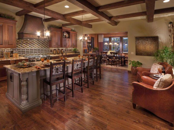 mediterranean kitchen designs with kitchen bar and sitting area