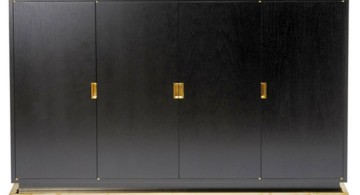 metal credenza in sleek black