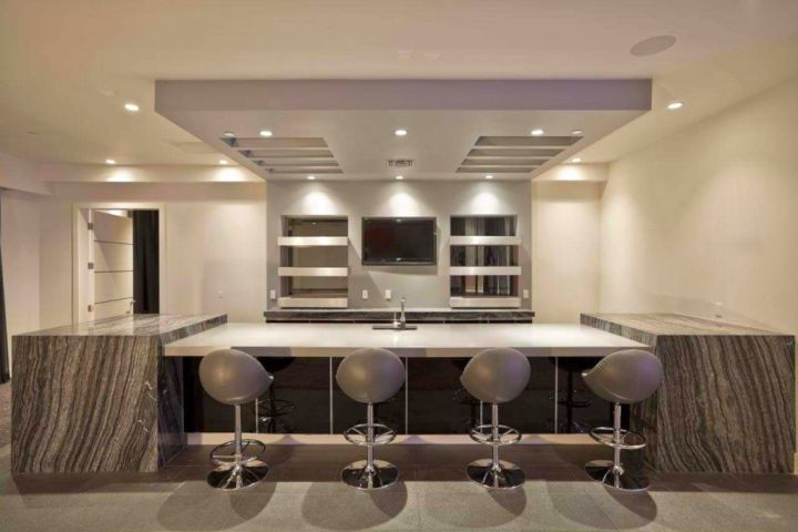 minimalist modern home bar design