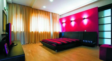 modern black and red bedroom ideas