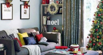 modern christmas room
