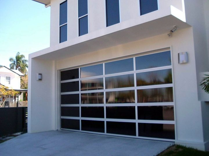 modern glass door for garage