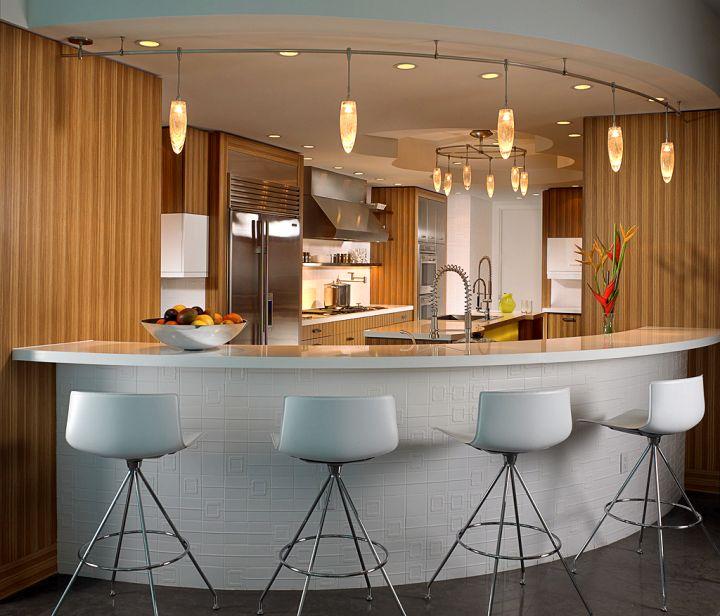 17 sleek modern home bar counter designs for Corner bar design image
