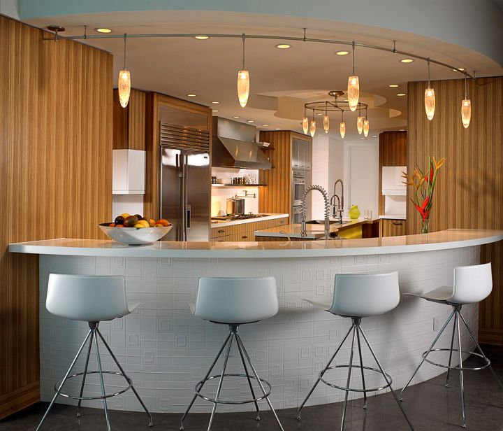 modern home bar design in a corner