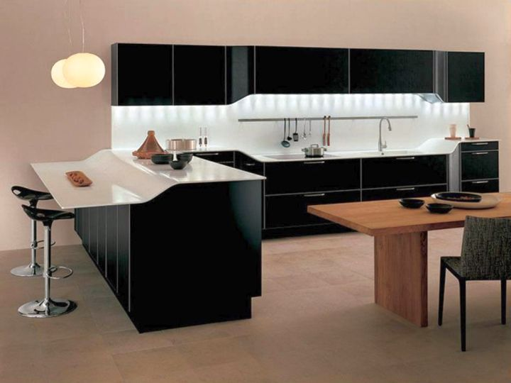 modern home bar design in black and white