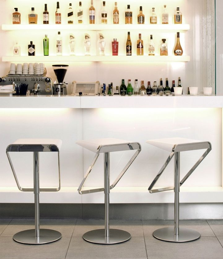 Interiordesign Portable Bar Home Bar Design Bar Stools: 17 Sleek Modern Home Bar Counter Designs