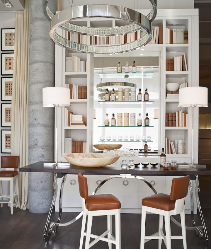 Modern Home Bar Design Ideas: 17 Sleek Modern Home Bar Counter Designs