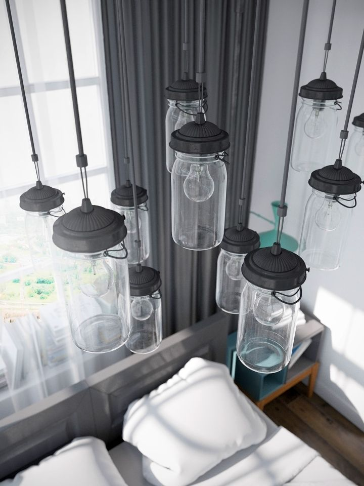 murmansk apartment details on bedroom lights
