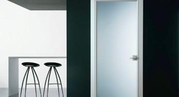 opaque modern glass door