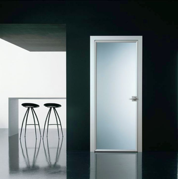 opaque modern glass door