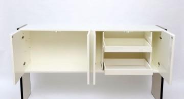 open white lacquer credenza
