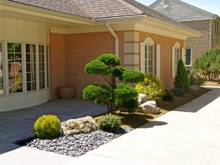 Oriental garden design for small front yard for Japanese garden designs for small gardens