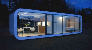 oval shaped contemporary mobile homes