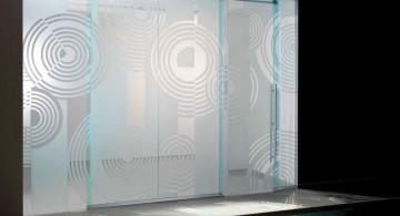 patterned modern glass door