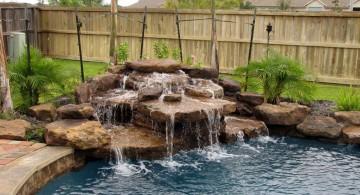 pool waterfall ideas in the corner