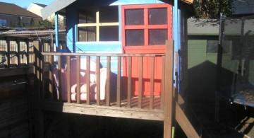 prefab treehouse on stilts