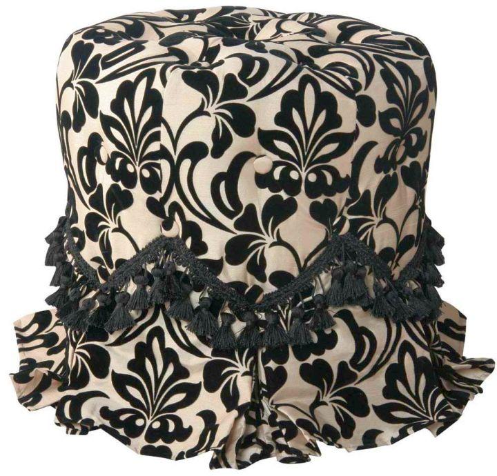 quirky elegant skirted vanity stool