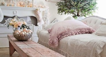 rustic christmas room in white