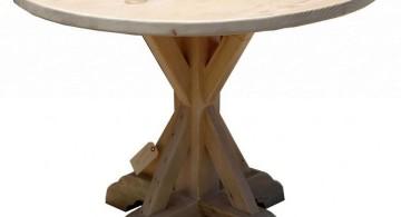 rustic pedestal table base ideas
