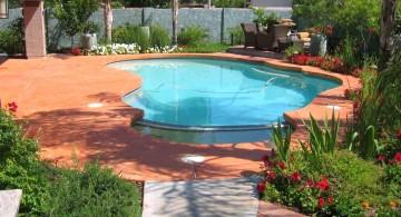 seamless wood pool deck